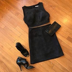 Black Bailey 44 Faux Suede Dress 2 Piece Illusion
